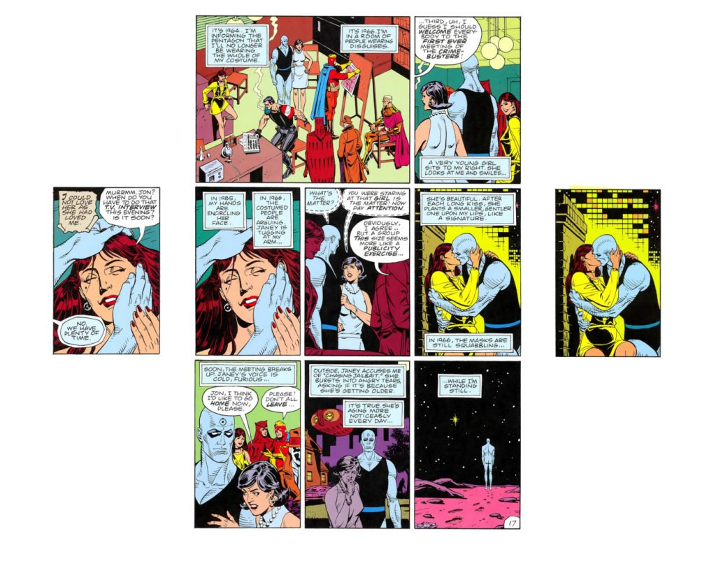 Figure 3: Watchmen 3:4/1 (left), 4:17 (center), and 4:18/5 (right).