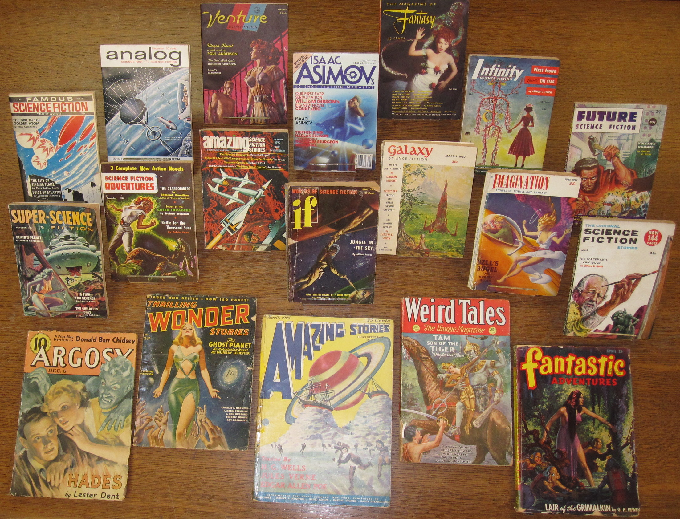 Image 1: The Elizabeth Chater Science Fiction Collection includes numerous rare pulp titles dating back into the early 1920s.