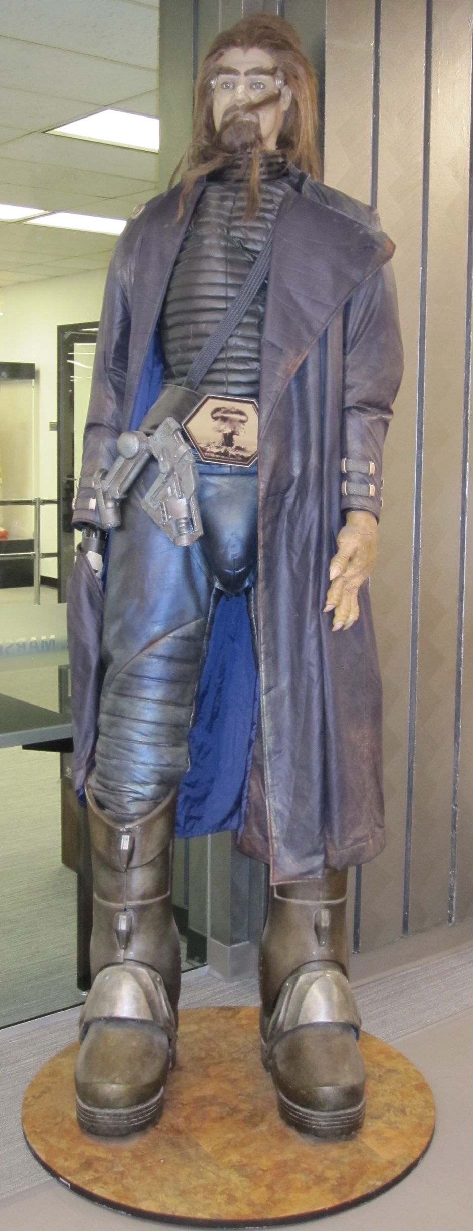 Image 3: John Travolta's costume as Terl in Battlefield Earth (2000). Edward E. Marsh Golden Age of Science Fiction Collection, SDSU.